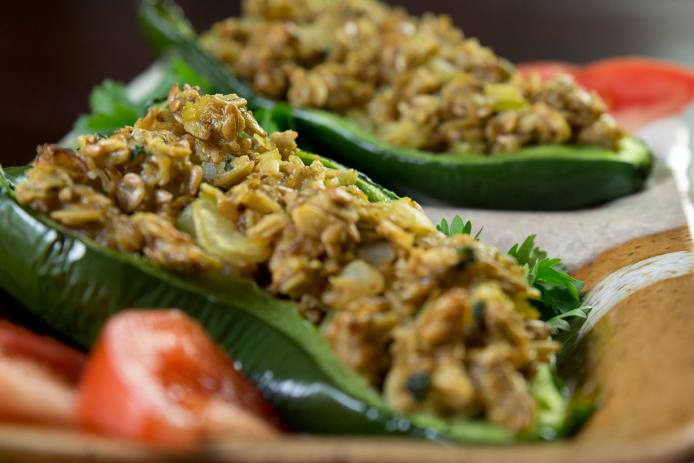 Peppers with Oatmeal Stuffing