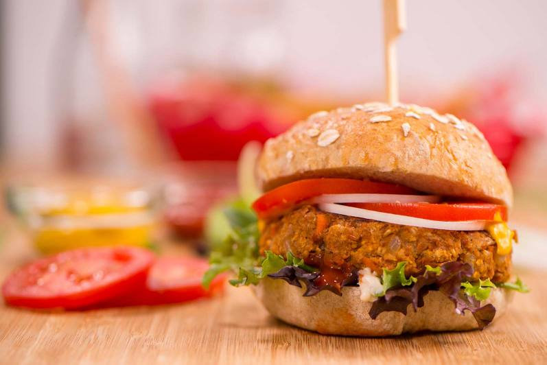 BBQ Bean and Oat Burgers