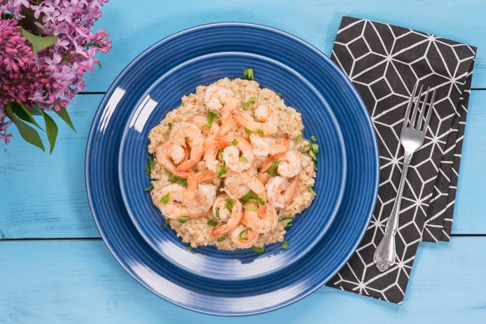 Lemony Shrimp and Parmesan Oats