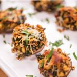 Mediterranean Stuffed Mushrooms with Quick Oats