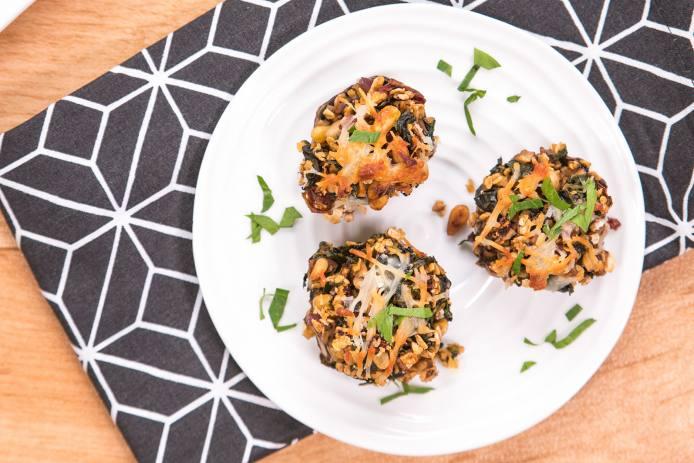 Mediterranean Stuffed Mushrooms