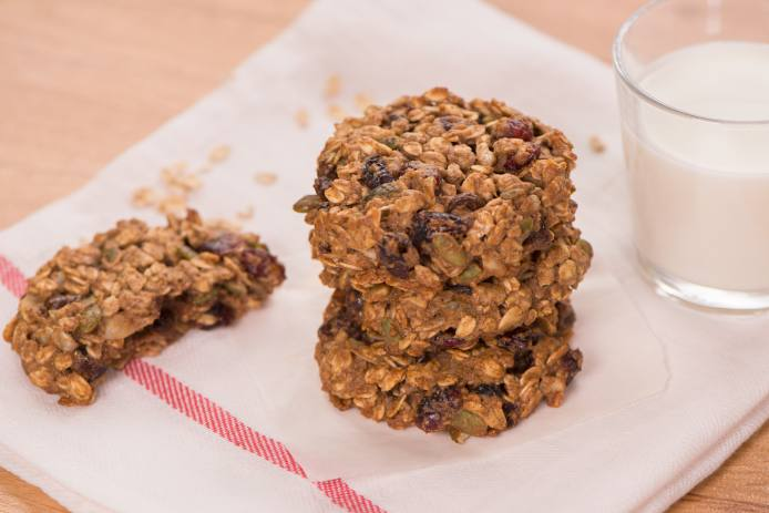 No Time for Breakfast Breakfast Cookies made with Rolled Oats