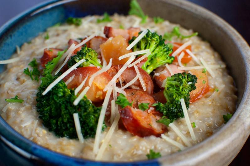 Oat Risotto with Chorizo