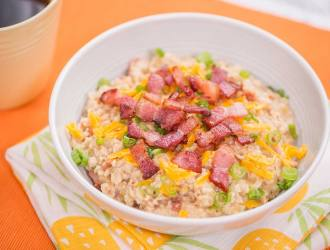 Bacon And Cheddar Savory Oatmeal