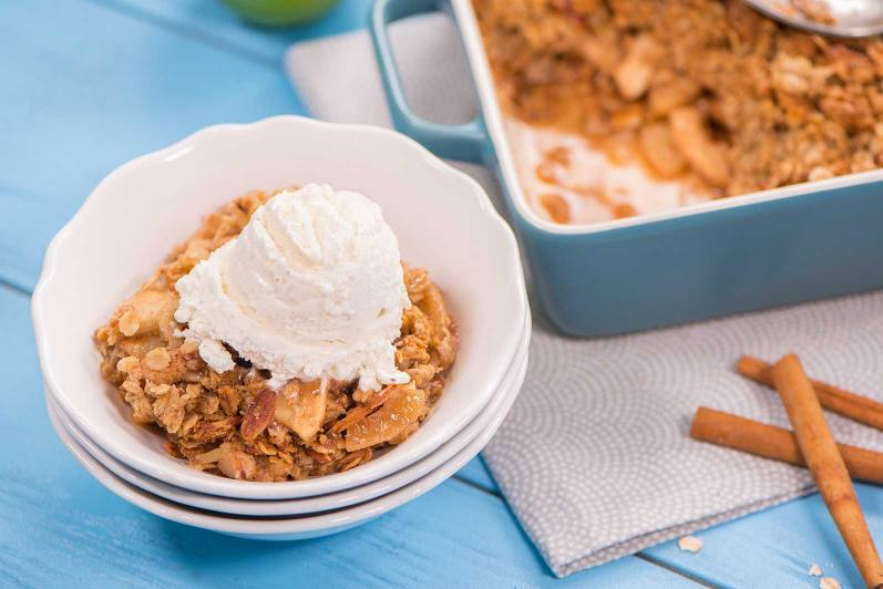 Nutty Oaty Apple Crisp
