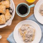 Buttermilk Oat Biscuits Sausage Gravy