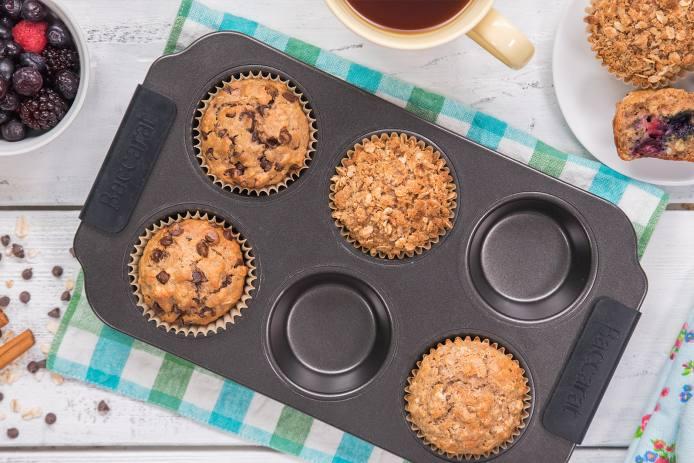Oat Muffins Three Ways