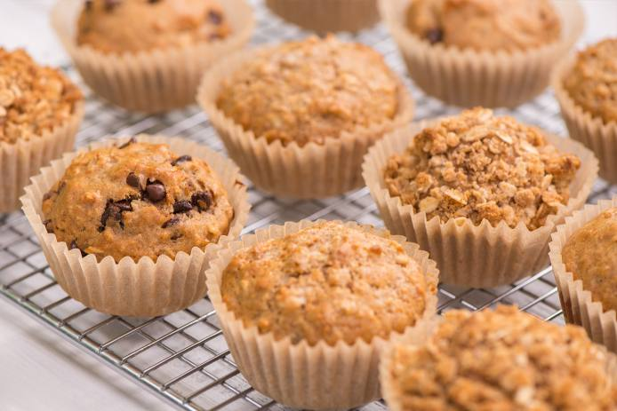 Oat Muffins Three Ways