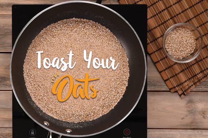 toasting oats