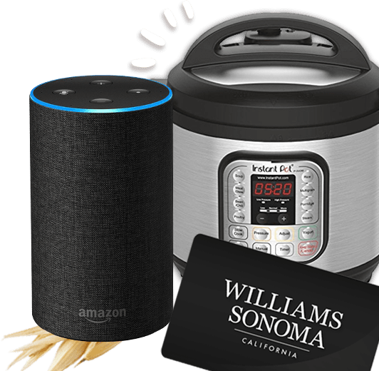 An Amazon Echo, Instant Pot and a Williams Sonoma gift card